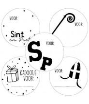 Stickers rond sinterklaas etiket mix