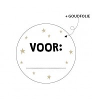 Stickers rond kerstmis VOOR: goudfolie