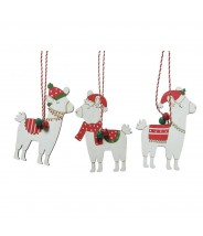 Kerst hanger hout alpaca...