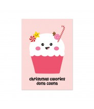 Kerstkaart cupcake christmas calories dont count
