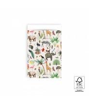 Papieren zakjes jungle dieren