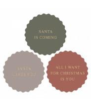 Stickers kerst santa is...