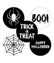 Stickers rond halloween mix set