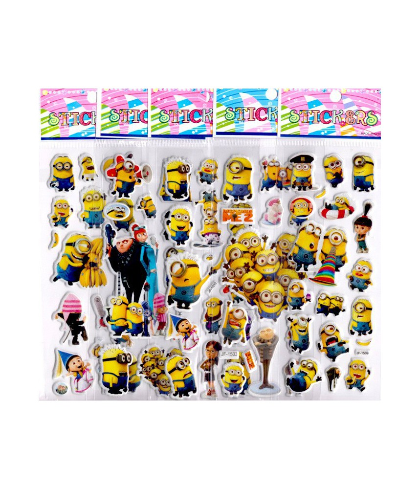 Stickervelletje minions