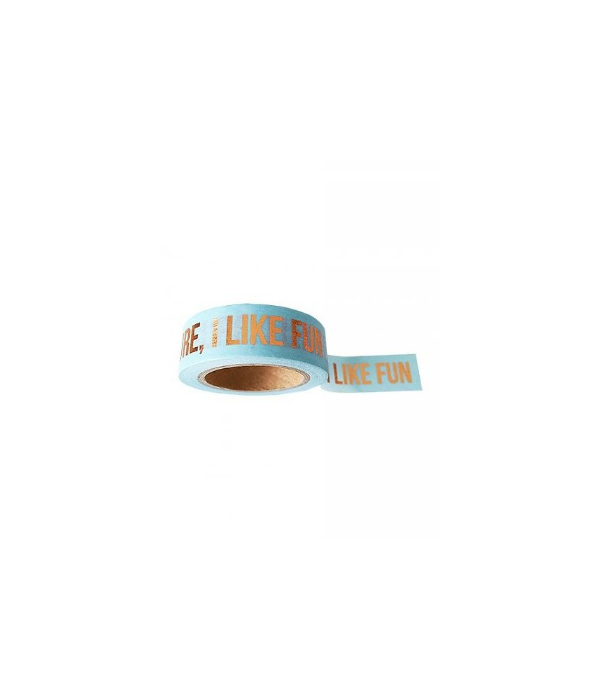 "Masking tape blauw koper folie ""sure i like fun"""