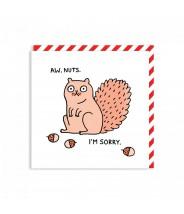 Wenskaart - Aww nuts (Ohh Deer)