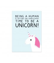 "Kaart ""time to be a unicorn"""