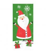 Plastic zakje groot 5st - Kerstman