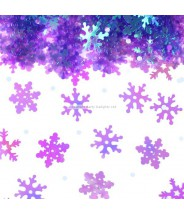 Tafel confetti sneeuwvlokjes glitter