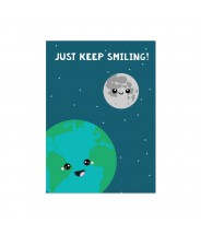 "Kaart ""wereld just keep smiling"""