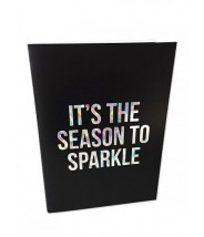 Kerst kaart glitter folie - It's the season to sparkle