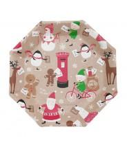 Papieren bordjes kerstman
