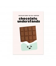 "Kaart ""chocolate understands"""