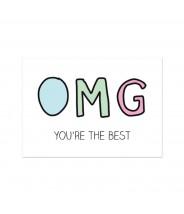 "Kaart ""OMG you're the best"""