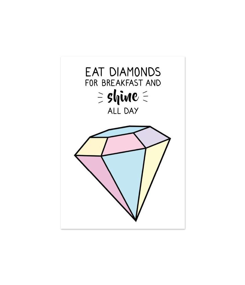 "Kaart ""eat diamonds"""