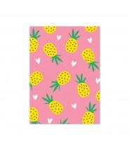 """Kaart """"ananasjes roze"""""""