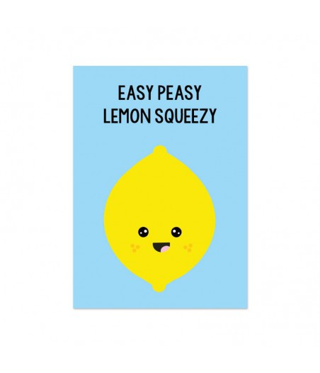 "Kaart ""lemon squeezy"""