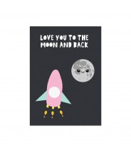 """Kaart """"to the moon and back"""""""