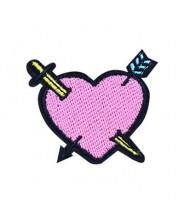 Patch strijk applicatie - Hartje met pijl & zwaard