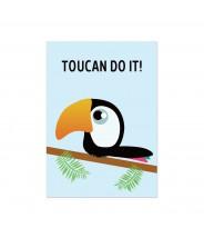 """Kaart """"toucan do it"""""""