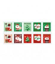 Stickervel kerst postzegels