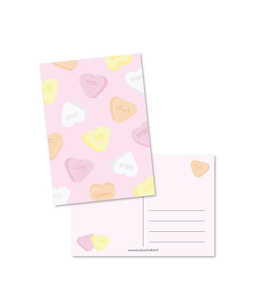 Kaart sweethearts roze