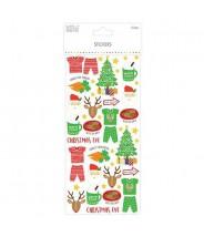 Stickervel simply creative christmas eve