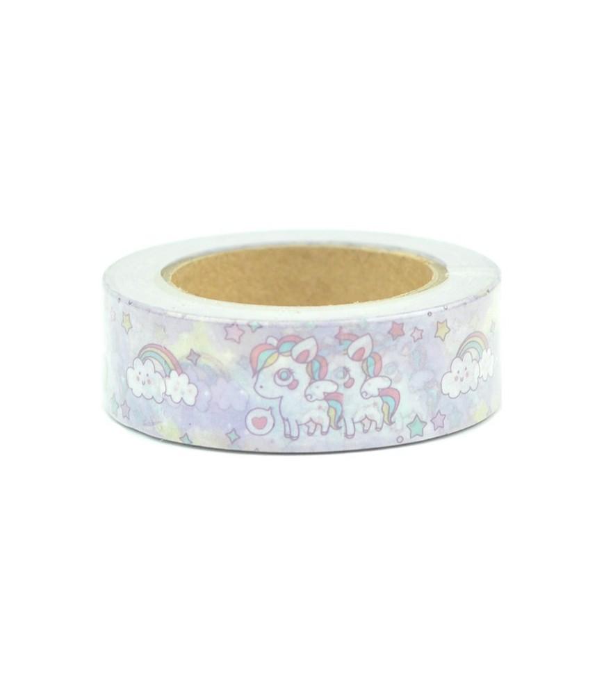 Masking tape eenhoorn wolk kawaii