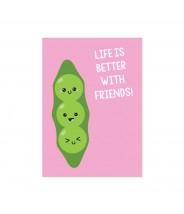 """Kaart """"pea pod friends"""""""