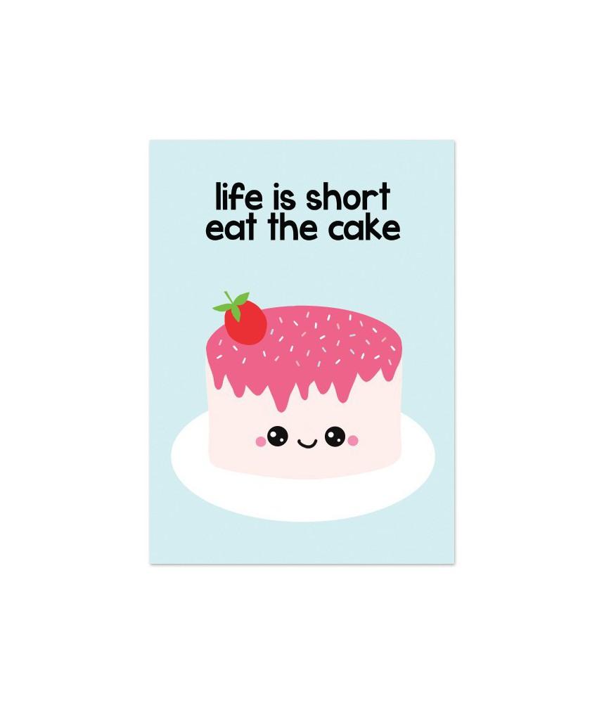 """Kaart """"eat the cake"""""""