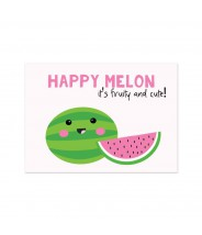 "Kaart ""happy melon"""