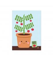 """Kaart """"tomatenplantje"""""""