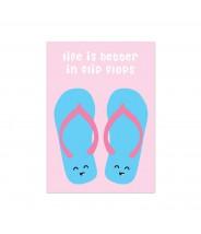 """Kaart """"flip flops"""""""