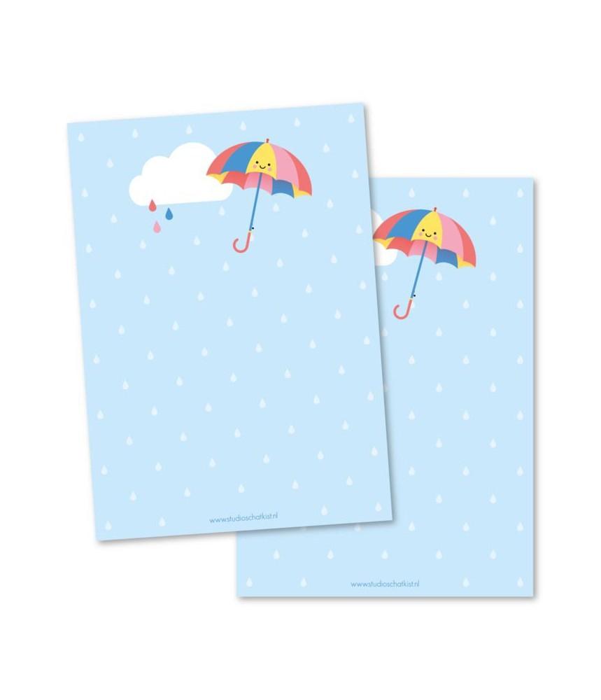 Notitieblokje paraplu