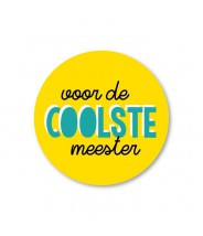 Stickers rond coolste meester (per 5)