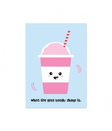 """Kaart """"milkshake"""""""