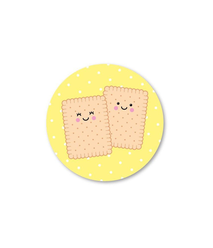 Stickers rond koekjes (per 5)