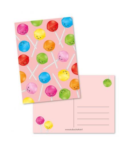 Kaart lolly patroon roze (studio schatkist)
