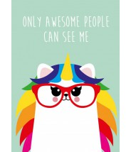 Kaart studio inktvis - awesome people unicorn