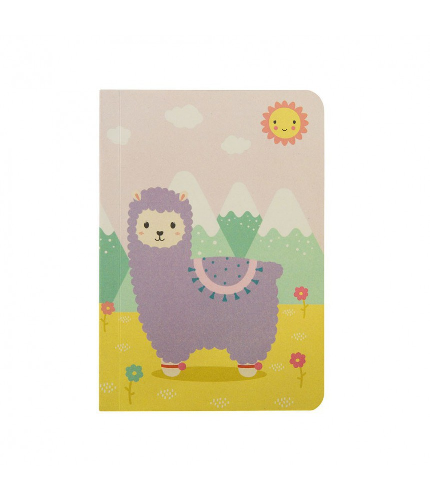 Notitieboekje klein alpaca lama