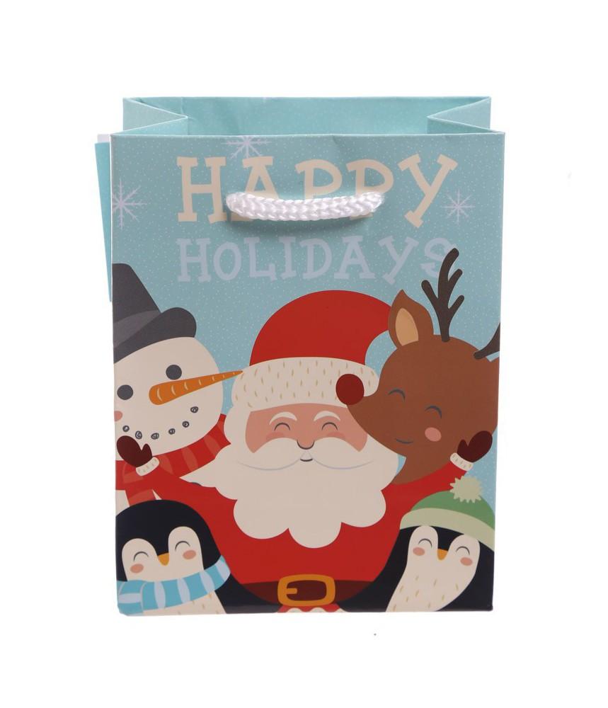 Cadeautasje klein kerst figuren