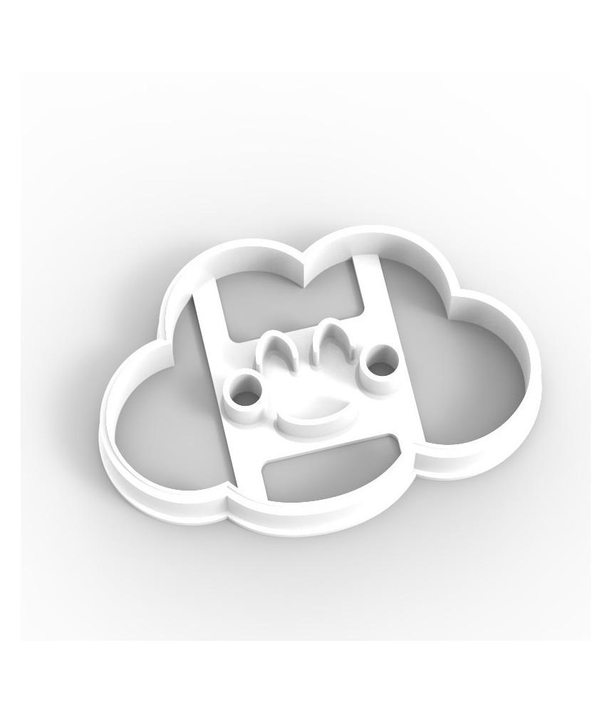 Koekjesvorm uitsteker wolkje