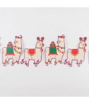 Kerst slinger papier alpaca