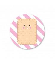 Stickers rond koekje (per 5)