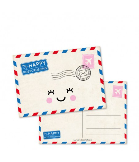 Kaart happy postcrossing (studio schatkist)