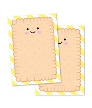 Notitieboekje schrijfblok A6 geel schrijfkoekje