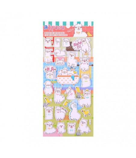 Stickervel puffy alpaca B03