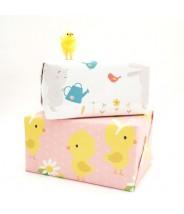 Cadeaupapier vel konijntjes lente