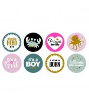 Stickers rond baby newborn
