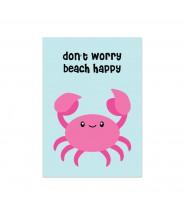 Kaart krab don't worry